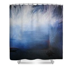 YOD Shower Curtain by Carrie Maurer
