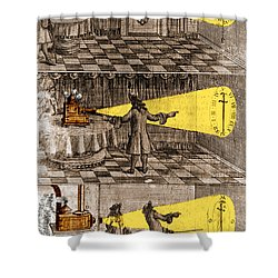 Zahn Light Projection Apparatus 1685 Shower Curtain by Science Source