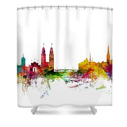Zurich Switzerland Skyline Shower Curtain