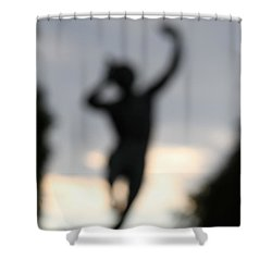 Shower Curtain featuring the digital art Out Of His Grief, Delight And Rage. by Danica Radman