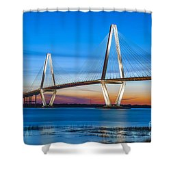 Charleston Arthur Ravenel Bridge Shower Curtain