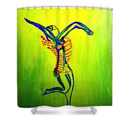 Dinka Dance - South Sudan Shower Curtain by Gloria Ssali