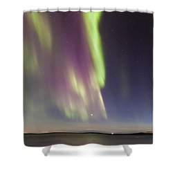 Northern Lights Iceland Shower Curtain