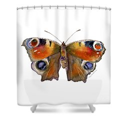 10 Peacock Butterfly Shower Curtain by Amy Kirkpatrick