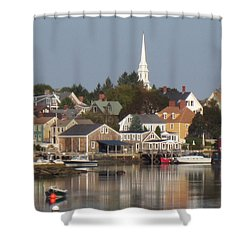 New Castle Harbor Nh Shower Curtain