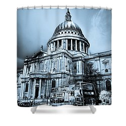 St Paul's Cathedral London Art Shower Curtain by David Pyatt