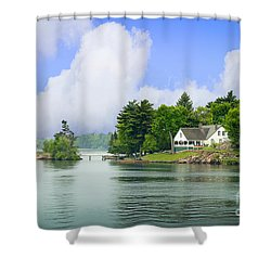 1000 Island Waterway Shower Curtain