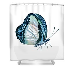 101 Perched Danis Danis Butterfly Shower Curtain by Amy Kirkpatrick