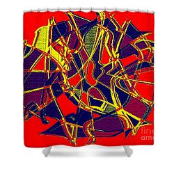 1010 Abstract Thought Shower Curtain by Chowdary V Arikatla