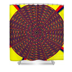 1020 Abstract Thought Shower Curtain by Chowdary V Arikatla