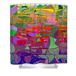 1021 Abstract Thought Shower Curtain