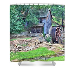 Sixes Mill On Dukes Creek Shower Curtain