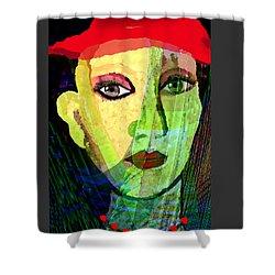 1084 - La  Signora ... Shower Curtain by Irmgard Schoendorf Welch