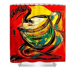 Coffee Shower Curtain by Mark Kazav