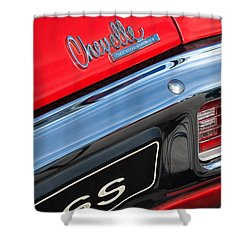 1970 Chevrolet Chevelle Ss Taillight Emblem Shower Curtain by Jill Reger