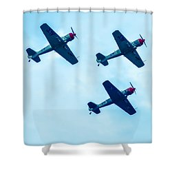 Action In The Sky During An Airshow Shower Curtain