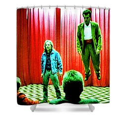 Black Lodge Shower Curtain