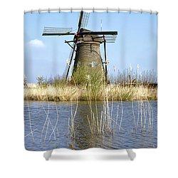 Kinderdijk Shower Curtain by Joana Kruse