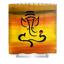 11 Nandana- Son Of Lord Shiva Shower Curtain
