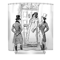 Scene From Pride And Prejudice By Jane Austen Shower Curtain by Hugh Thomson