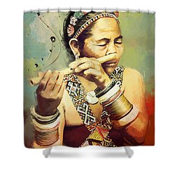 South Asian Art  Shower Curtain by Corporate Art Task Force