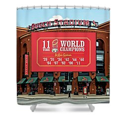 11 Time World Champion St Louis Cardnials Dsc01294 Shower Curtain