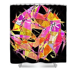 1102 Abstract Thought Shower Curtain by Chowdary V Arikatla
