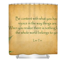 114- Lao Tzu Shower Curtain