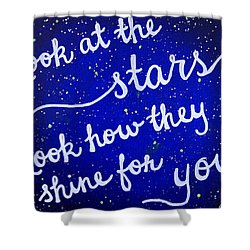 11x14 Look At The Stars Shower Curtain by Michelle Eshleman