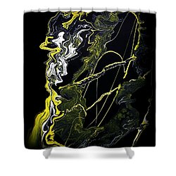Abstract 21 Shower Curtain by J D Owen