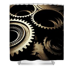 Cogs No1 Shower Curtain