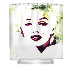 Marilyn Monroe Shower Curtain by Svelby Art