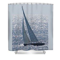 12 Meter True North Shower Curtain