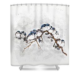 12 On A Twig Shower Curtain