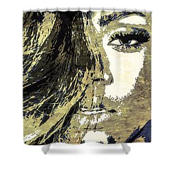 Rihanna Shower Curtain by Svelby Art