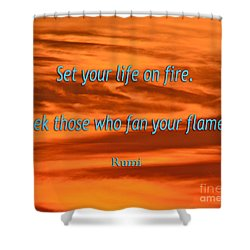 120- Rumi Shower Curtain