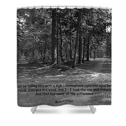 12a- Robert Frost  Shower Curtain