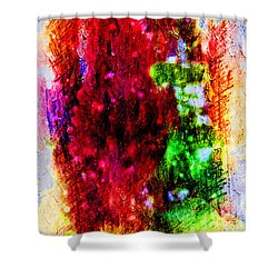 Red Clovers Shower Curtain