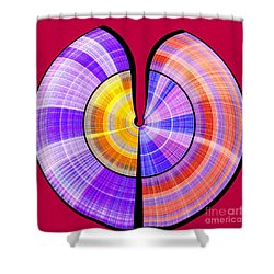 1330 Abstract Thought Shower Curtain