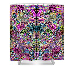 1332 Abstract Thought Shower Curtain