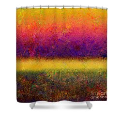 1395 Abstract Thought Shower Curtain by Chowdary V Arikatla