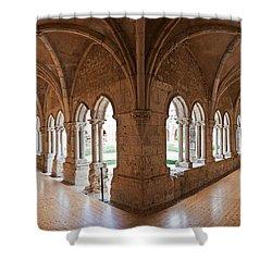 13th Century Gothic Cloister Shower Curtain by Jose Elias - Sofia Pereira