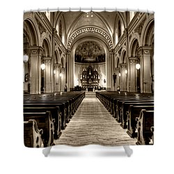 Church Of The Assumption Shower Curtain by Amanda Stadther