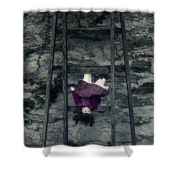 Old Doll Shower Curtain by Joana Kruse