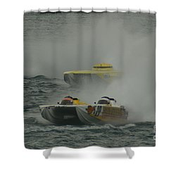 Port Huron Sarnia International Offshore Powerboat Race Shower Curtain by Randy J Heath