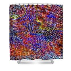 1429 Abstract Thought Shower Curtain by Chowdary V Arikatla