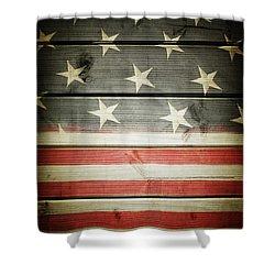 American Flag 58 Shower Curtain