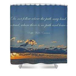 149- Ralph Waldo Emerson Shower Curtain