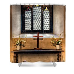14th Century Chapel Shower Curtain by Adrian Evans