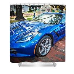 2014 Chevrolet Corvette C7 Shower Curtain by Rich Franco